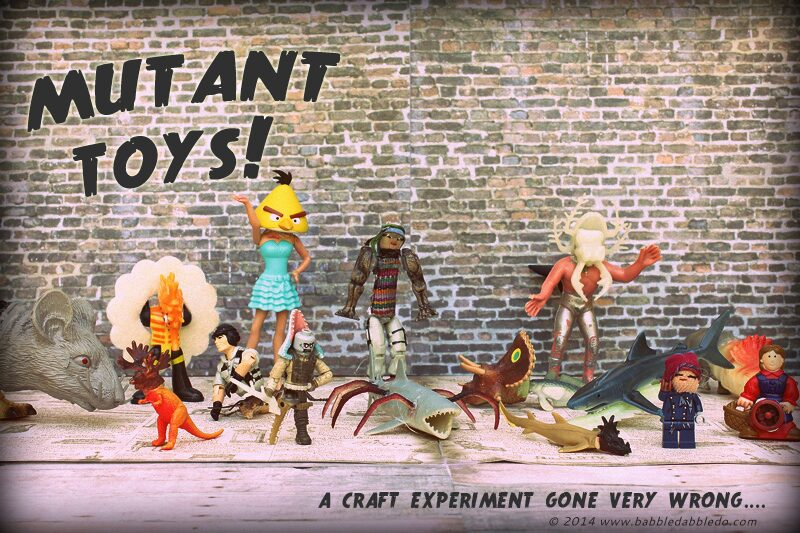 Crafty Halloween Ideas: Make your own MUTANT TOYS from leftover toy parts!