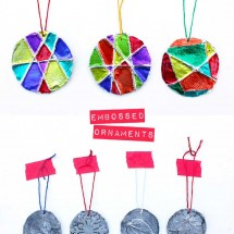 Simple homemade Christmas ornaments- Embossed Ornaments | Easy project for kids and adults with stunning results!