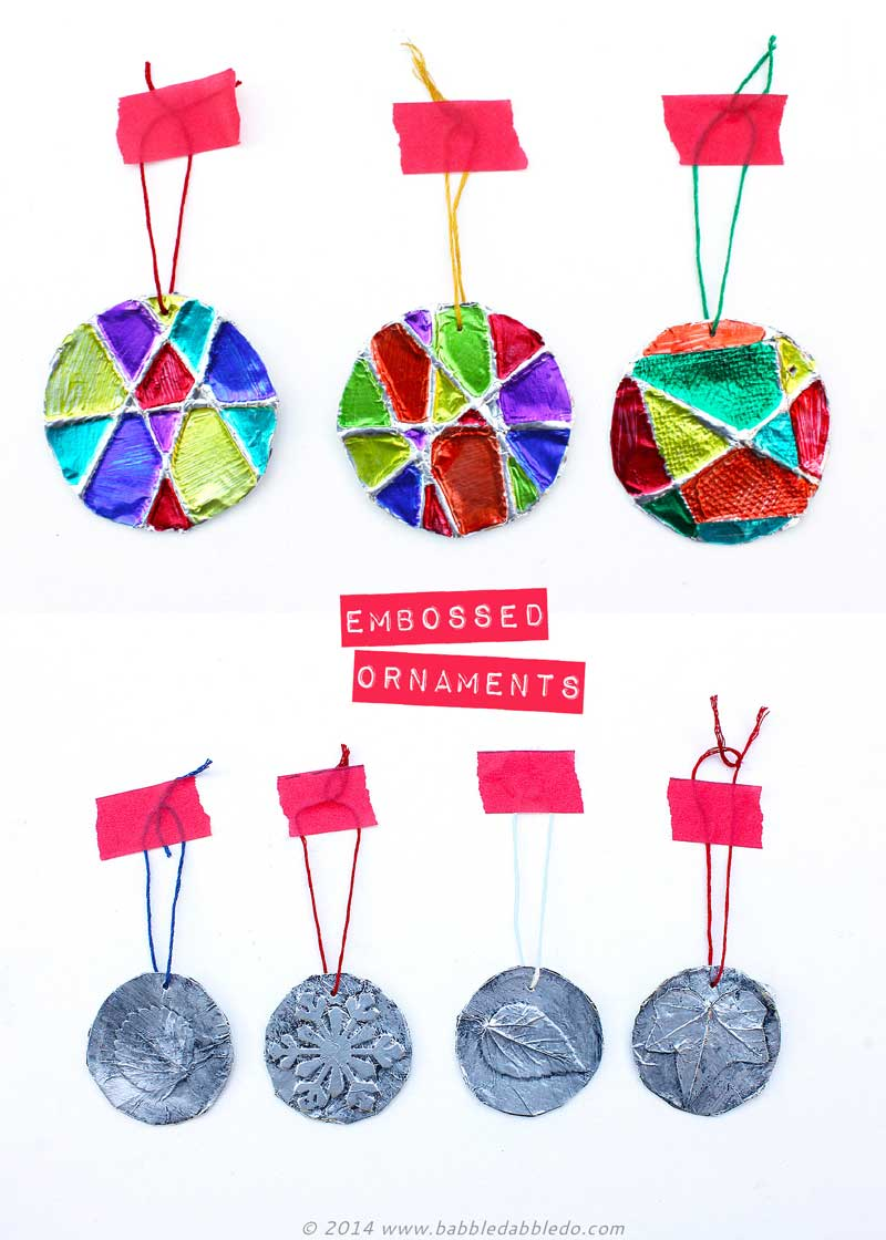 Homemade Christmas Ornaments | 5-Minute Embossed Ornaments - Babble ...