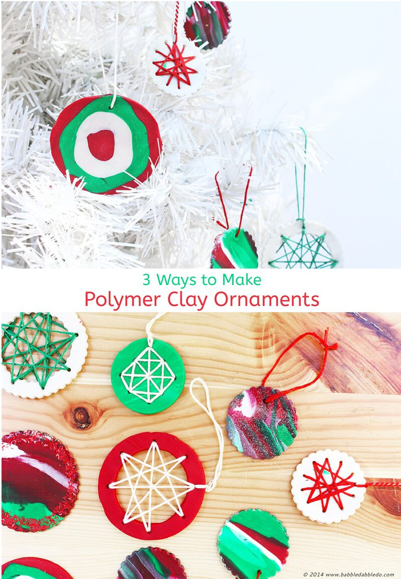 Homemade Christmas Ornaments With Polymer Clay Babble Dabble Do