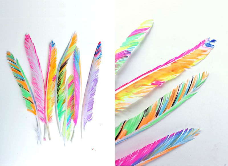 Thanksgiving crafts for kids: Fancy Feathers