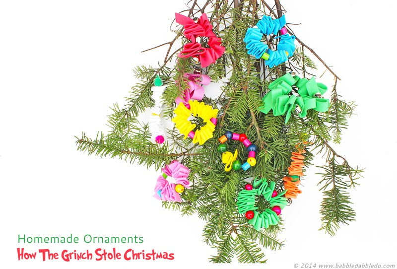The Grinch Christmas Tree Decorations.Homemade Ornaments How The Grinch Stole Christmas Babble