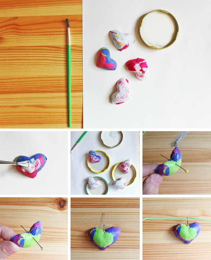 Paper Crafts Pendants Made From Recycled Tissue
