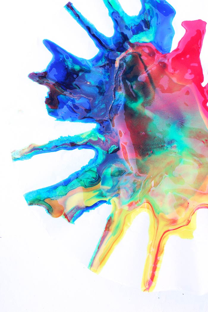 Science Art: Rainbow Spin Mixing- Explore color theory and physics in this simple art project.