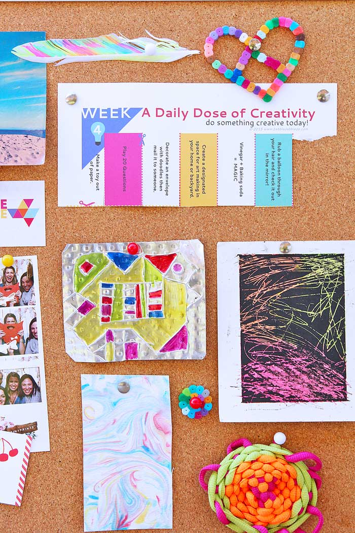 42 Creative Ideas For Families FREE Printable With Simple Daily Activities