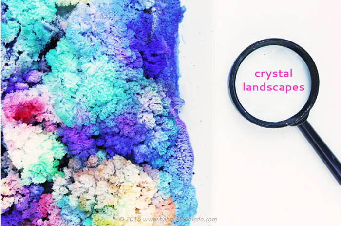 Learn how to grow colorful salt and bluing crystals! A great science fair project  for exploring crystal growth.