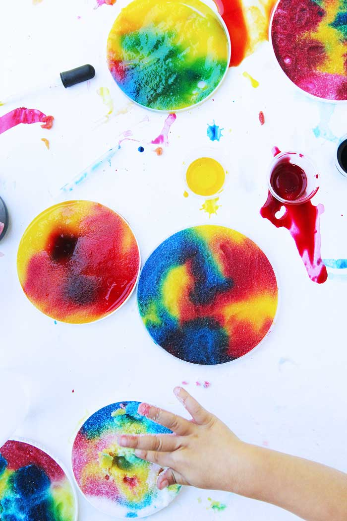 Colorful process art project for kids with a special bonus!