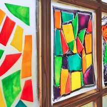 Pasta Crafts: Stained Glass Pasta