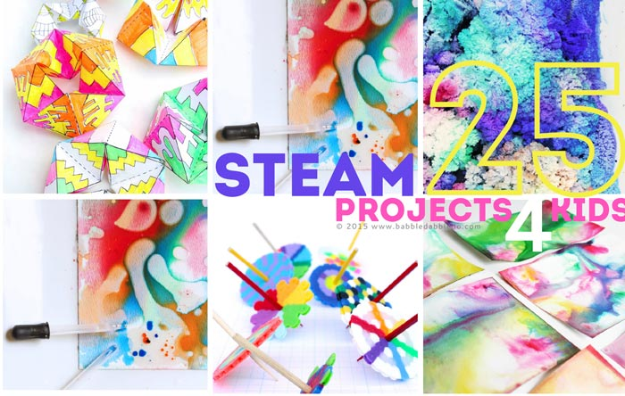 25 steam projects for kids - Graphic Design Project Ideas