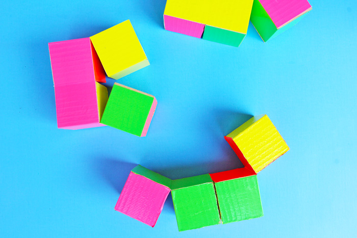 Simple Diy Toy Flexicube Blocks Babble Dabble Do