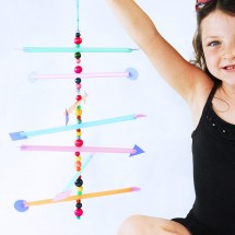 Easy Kid's Craft: Straw Mobile