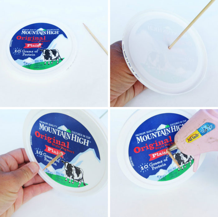 Easy Art Activity: Make crazy fun art using yoghurt paint and yoghurt containers!