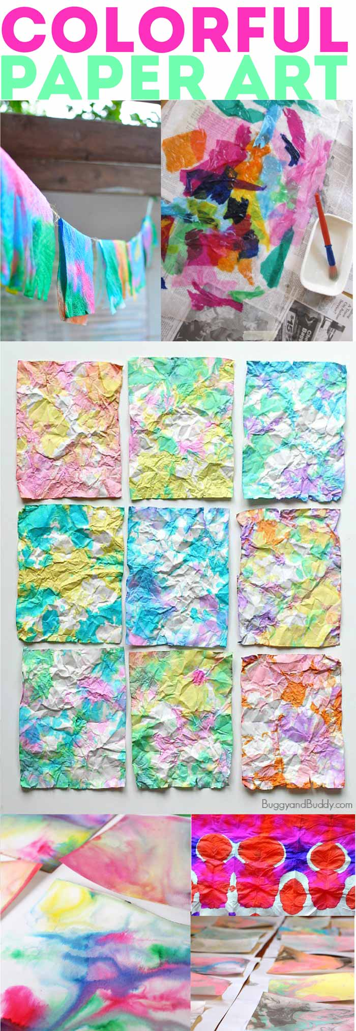 60+ amazing paper crafts for kids (and adults) to make! Colorful Paper Art Ideas!