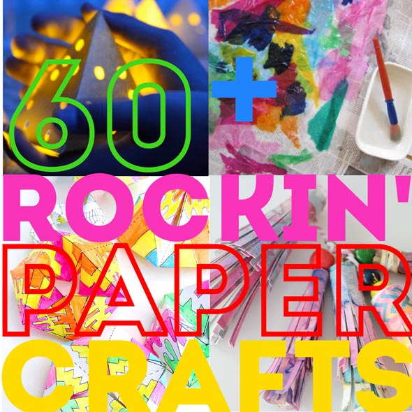 60+ Paper Crafts for kids and adults from the Rockin' Art Moms.