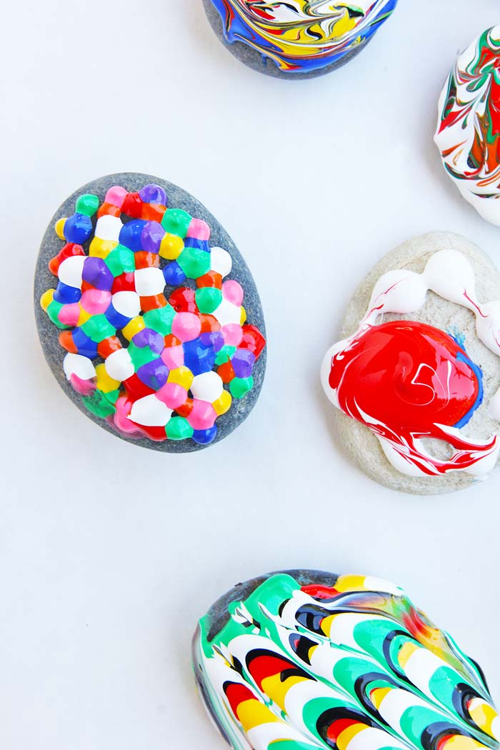 Puffy Painted Rocks: A Classic Craft With A Twist! Use Puffy Paint To Give