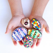 Easy Art for Kids: Puffy Painted Rocks