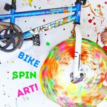 Action Art: Spin Art Using a Bike