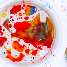 Process Art for Kids: Ooey Gooey Oily Art
