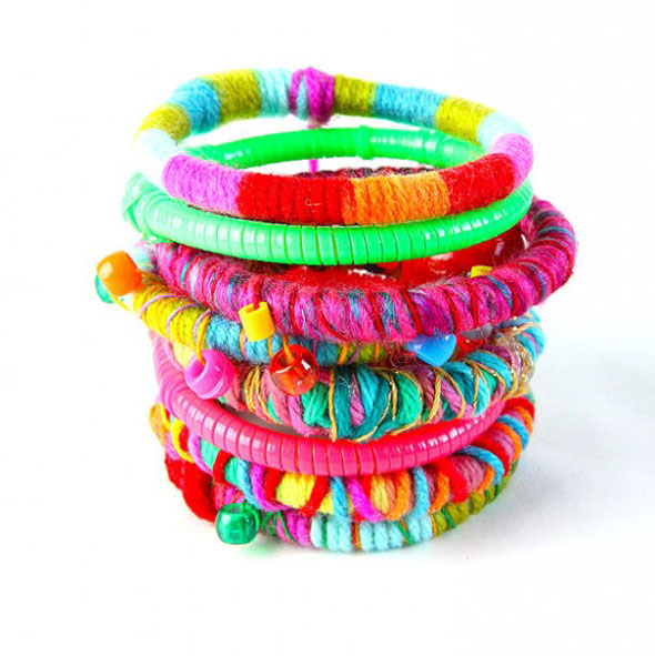 Upcycle used glow sticks into fancy DIY bracelets; no one will ever guess there is an old glow stick underneath!