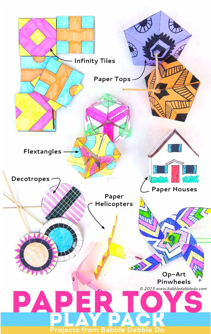 Paper-Toys-Play-Pack-TOY-COLLECTION - Babble Dabble Do