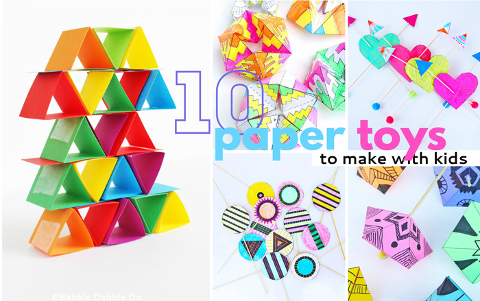 Easy And Fun Paper Toys To Make With Your Kids