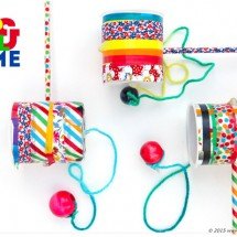 Make a DIY toy, the classic Cup & Ball Game, using a few household items!