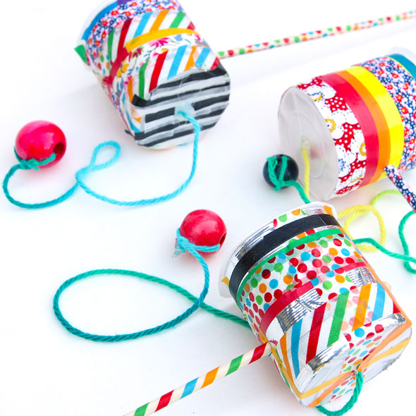 DIY toy idea: Make the classic Cup & Ball Game using a few household items!