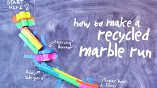 Recycled DIY Marble Run