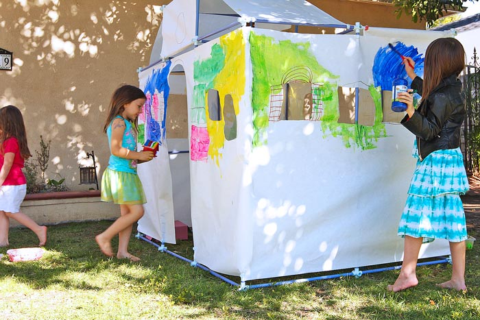 Explore the design process with kids through fort building.