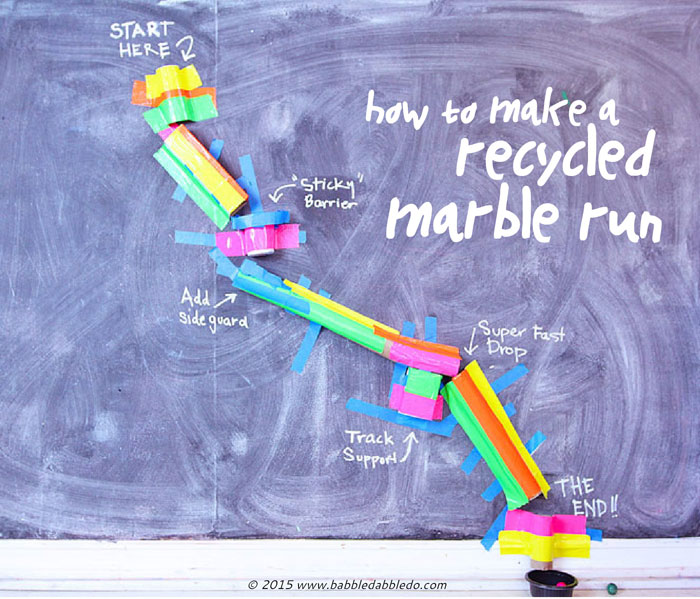 Learn how to make a DIY Marble Run from items in your