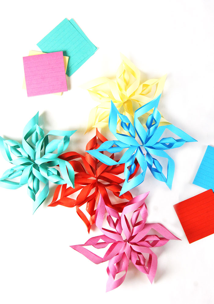Make 3D Paper Stars from Post-it notes!