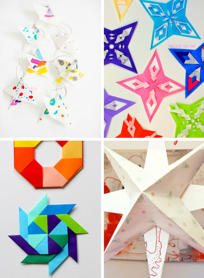 7 ways to make Paper Stars.