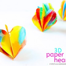 A Colorful 3D Paper Heart Craft for Valentine's Day
