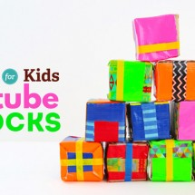 Easy upcycled craft idea: Make DIY blocks out of cardboard tubes!