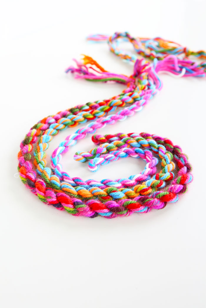 Yarn Craft Idea How To Make Yarn Rope Babble Dabble Do