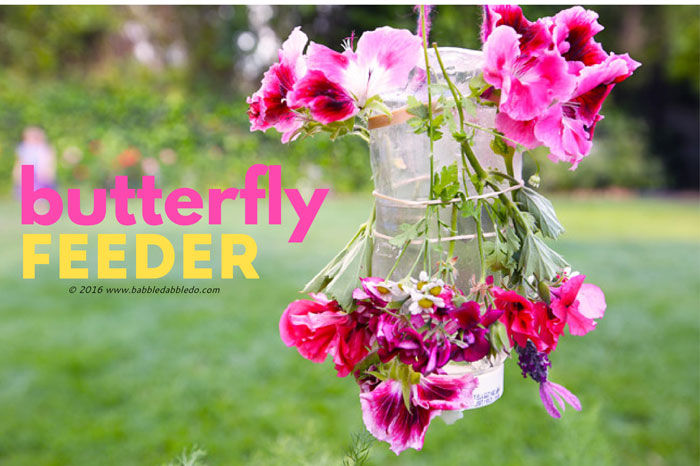 A colorful nature craft for kids: make a Butterfly Feeder to attract pollinators to your yard.