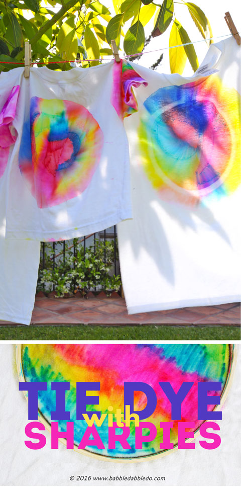 2c834ee086e0 Learn how to make Sharpie Tie Dye T-Shirts and turn it into a color. Filed  Under  Art for Kids ...