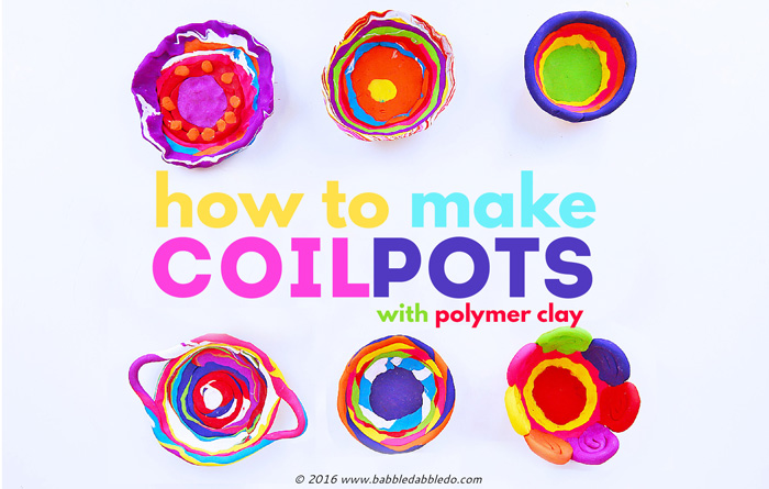How To Make Coil Pots With Polymer Clay Babble Dabble Do