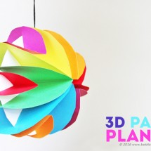 3D Paper Planets: A simple planet craft for kids that also introduces them to the magic of turning a 2 dimensional material into a 3 dimensional object