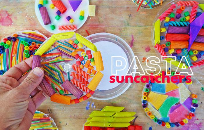 Pasta Suncatcher Craft for Kids