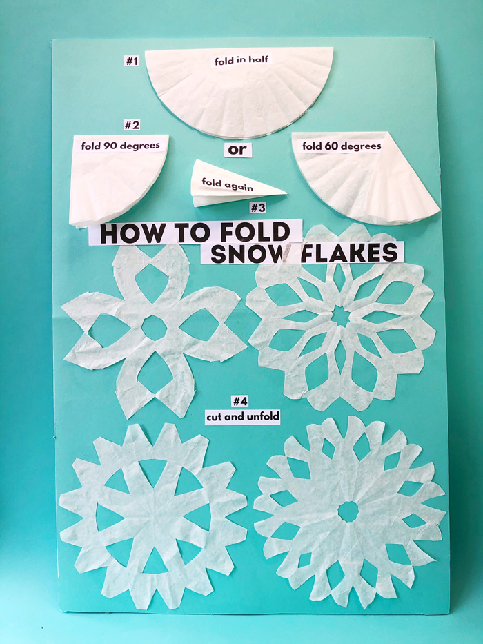 An irresistible snowflake craft for kids: How to make snowflakes from coffee filters