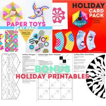 BUNDLE: Paper Toys, Holiday Cards, & Bonus Printables