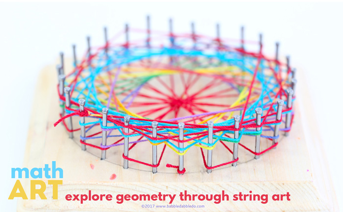 Math Art Idea Explore Geometry Through String Art Babble Dabble Do