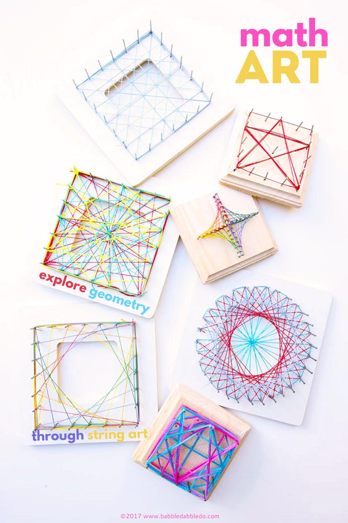 photograph regarding Free Printable String Art Patterns With Instructions titled Math Artwork Concept: Investigate Geometry All through String Artwork - Babble