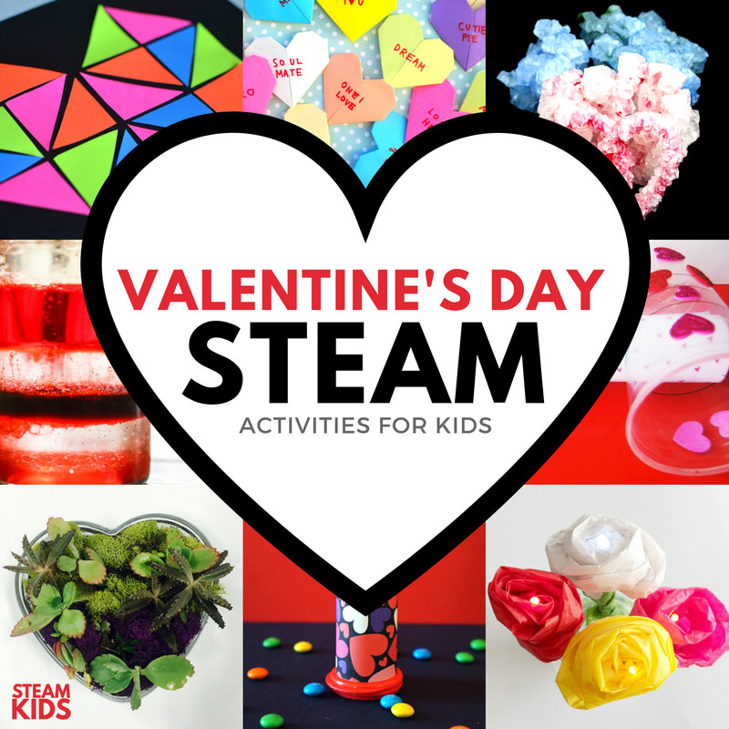Valentine's Day Ideas: 14 STEAM project ideas celebrating Valentine's Day