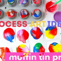 Process Art Idea: Muffin Tin Prints
