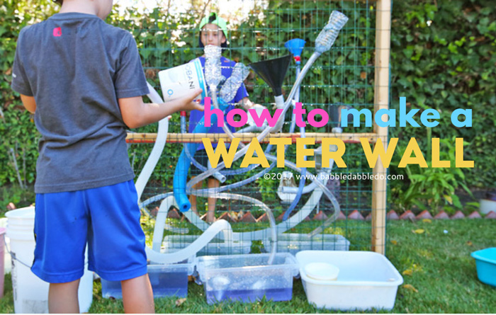 A DIY water wall is a great outdoor activity for kids! Learn how to build freestanding kids water wall for about $40 in materials.