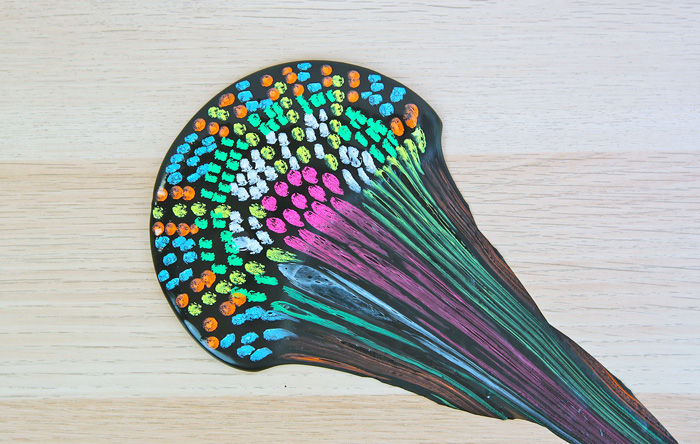 This artsy slime recipe makes a great STEAM project. Discuss the science behind slime and get a chance to draw a pointillist picture on it.