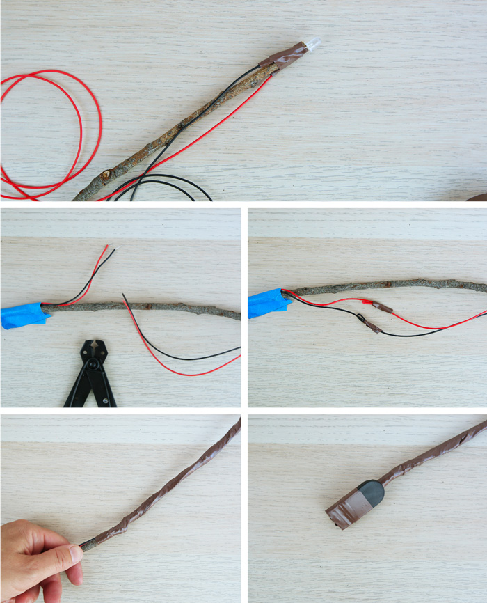 A Harry Potter inspired electronics project for kids: Learn how to make a magic wand that lights up!
