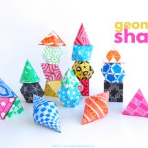 Math Art Idea: 3D Geometric Shapes